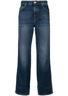 Alexander McQueen wide-leg cropped jeans - Blue