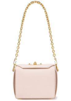 Alexander Mcqueen Woman Box Bag Pebbled-leather Shoulder Bag Pastel Pink
