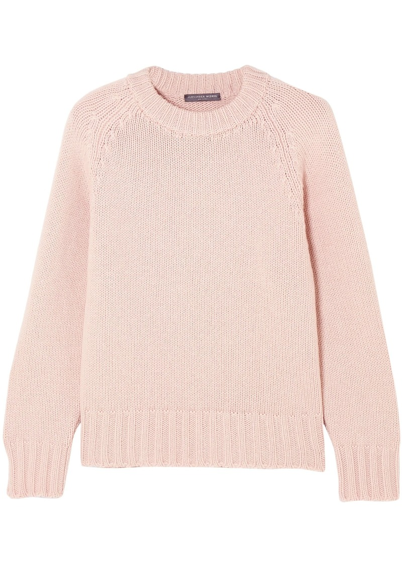 Alexander Mcqueen Woman Cashmere And Wool-blend Sweater Pastel Pink