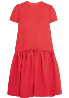 Alexander Mcqueen Woman Drop-waist Wool-blend Scuba Dress Red