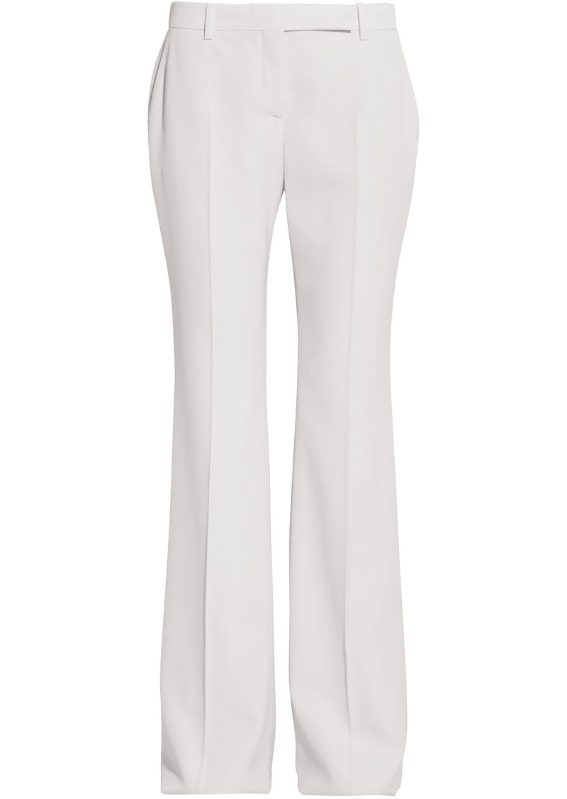 Alexander Mcqueen Woman Grain De Poudre Wool Flared Pants White
