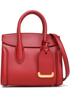 Alexander Mcqueen Woman Heroine Leather Shoulder Bag Crimson