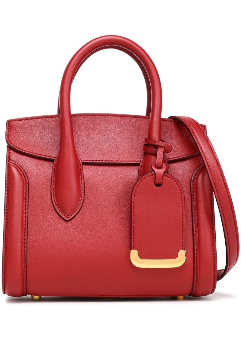 Alexander Mcqueen Woman Heroine Leather Shoulder Bag Crimson