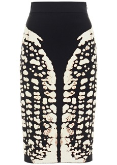 Alexander Mcqueen Woman Jacquard-knit Skirt Black