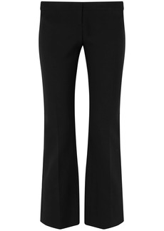Alexander Mcqueen Woman Lace-up Grain De Poudre Bootcut Pants Black
