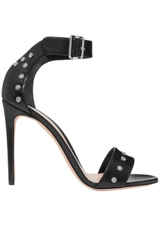 Alexander Mcqueen Woman Studded Leather Sandals Black