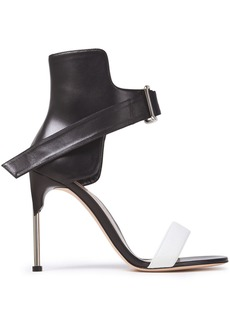 Alexander Mcqueen Woman Two-tone Leather Sandals Black