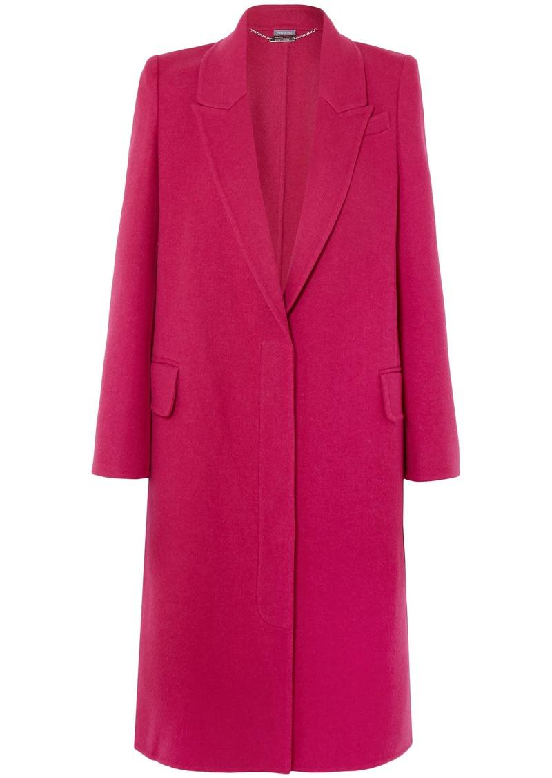 Alexander Mcqueen Woman Wool And Cashmere-blend Felt Coat Fuchsia