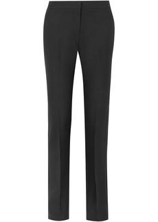 Alexander Mcqueen Woman Wool-blend Twill Straight-leg Pants Black