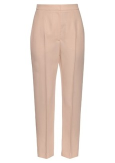 Alexander McQueen Wool and silk-blend tailored trousers