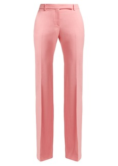 Alexander McQueen Wool and silk-crepe trousers