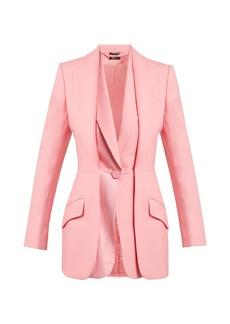 Alexander McQueen Wool-blend double-lapel blazer