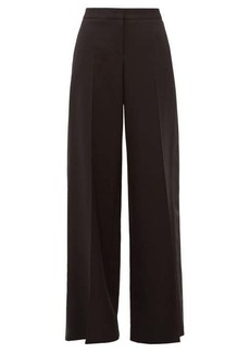 Alexander McQueen Wool-blend wide-leg tuxedo trousers