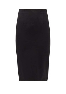 Alexander McQueen Wool-serge pencil skirt