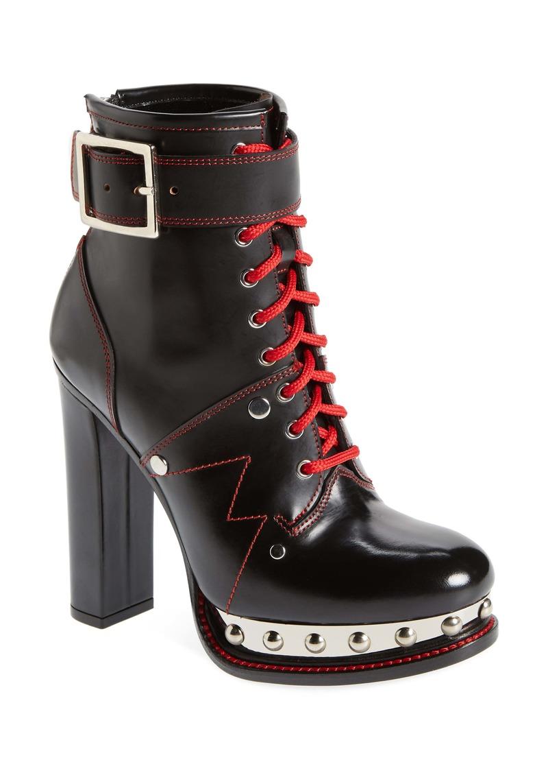 Alexander McQueen XXMM Lace-Up Platform Bootie (Women)
