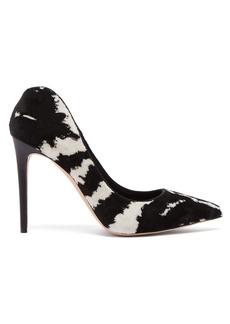 Alexander McQueen Zebra-print velvet pumps