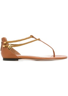 Alexander McQueen zipped styled flat sandals - Brown
