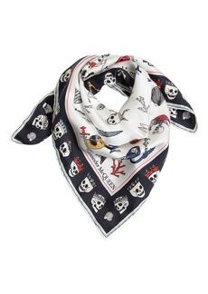 Alexander McQueen Animals Printed Silk Chiffon Scarf