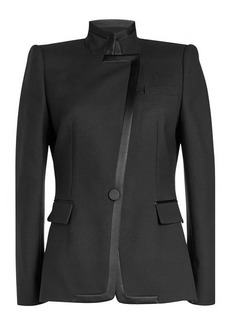 Alexander McQueen Asymmetric Blazer with Wool