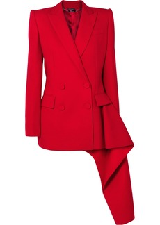 Alexander McQueen Asymmetric Double-breasted Wool-blend Blazer