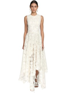 Alexander McQueen Asymmetric Lace Long Dress