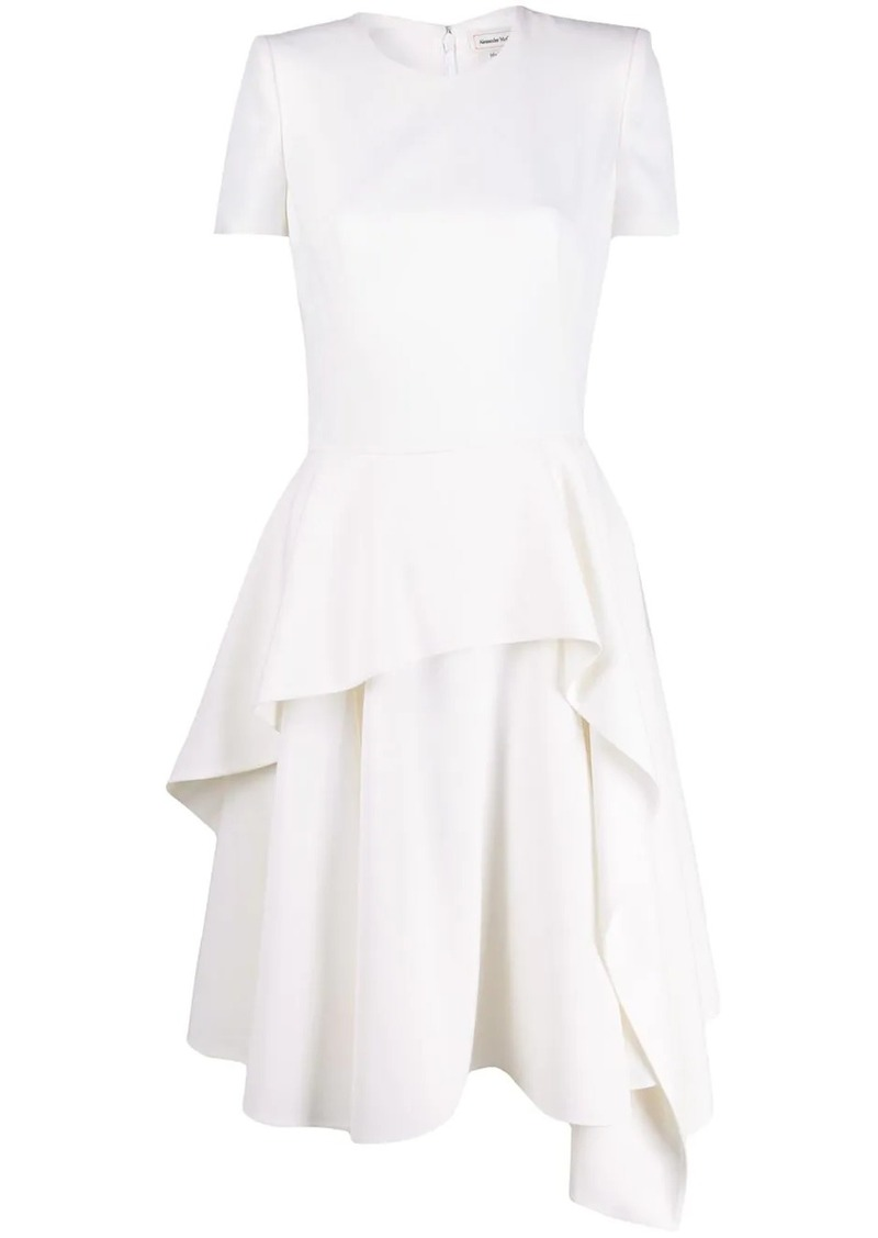 Alexander McQueen asymmetric layered dress