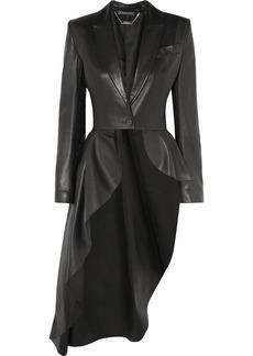 Alexander McQueen Asymmetric Leather Blazer