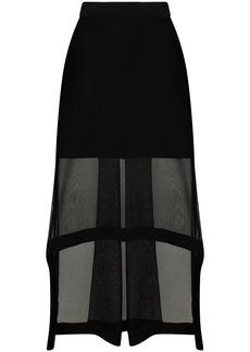 Alexander McQueen asymmetric panelled midi skirt