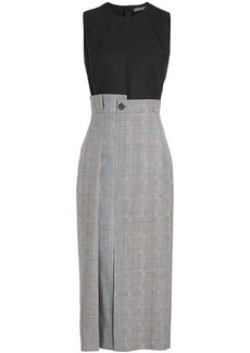 Alexander McQueen Asymmetric Pencil Dress in Wool and Silk