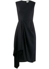 Alexander McQueen asymmetric striped dress