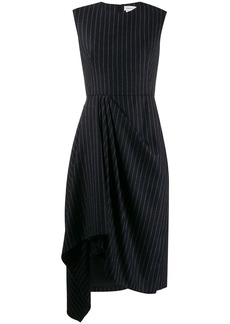 Alexander McQueen asymmetric striped dress