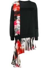 Alexander McQueen asymmetric sweatshirt dress