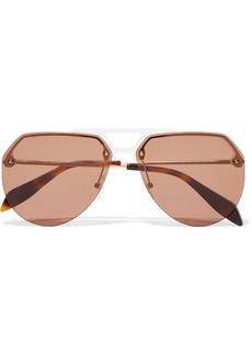 Alexander McQueen Aviator-style Acetate And Gold-tone Sunglasses