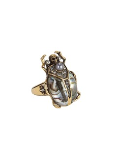Alexander McQueen Beetle Metallic Ring