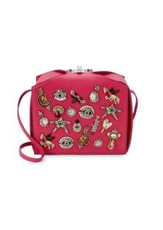 Alexander McQueen Bejeweled Patchwork Leather Box Shoulder Bag