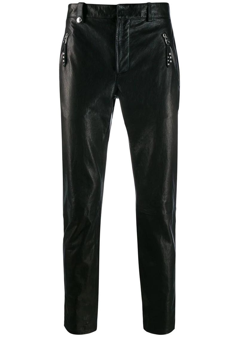 Alexander McQueen slim-fit biker trousers