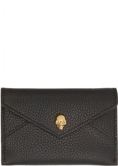 Alexander McQueen Black & Gold Envelope Card Holder