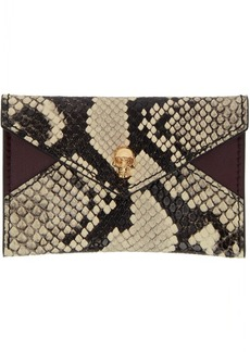 Alexander McQueen Black & Off-White Envelope Card Holder