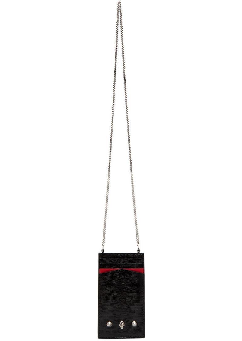 Alexander McQueen Black & Red iPhone Case Bag