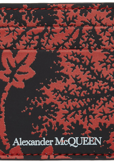 Alexander McQueen Black & Red Ivy Print Card Holder