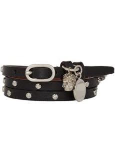 Alexander McQueen Black & Silver Studded Multi Wrap Bracelet