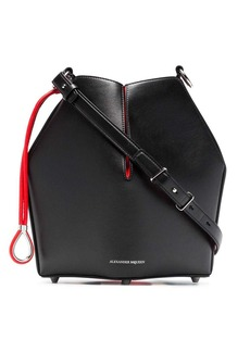 Alexander McQueen black and red Bucket leather bag