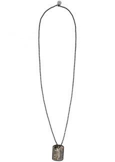 Alexander McQueen Black Camouflage Beaded Necklace