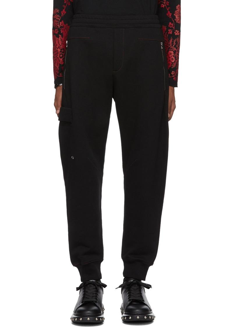 Alexander McQueen Black Cotton Lounge Pants