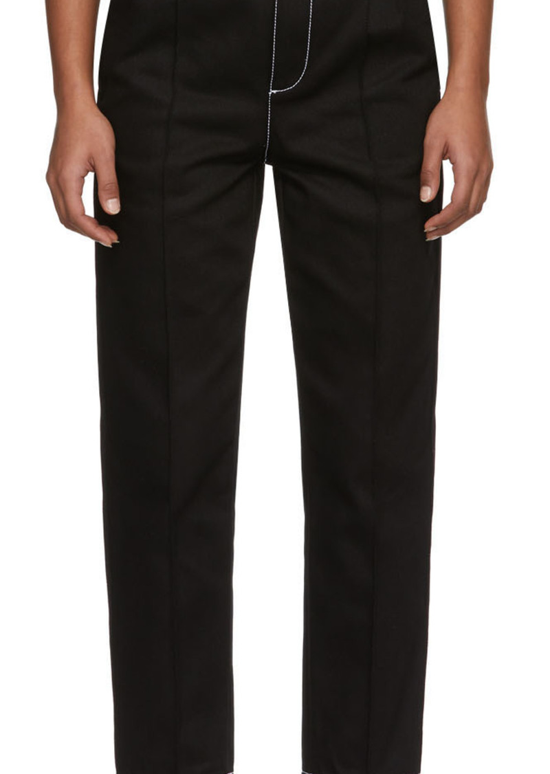 Alexander McQueen Black Denim Pegleg Jeans