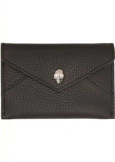 Alexander McQueen Black Envelope Card Holder