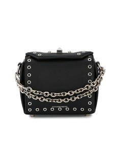 Alexander McQueen Black eyelet Box mini Leather bag