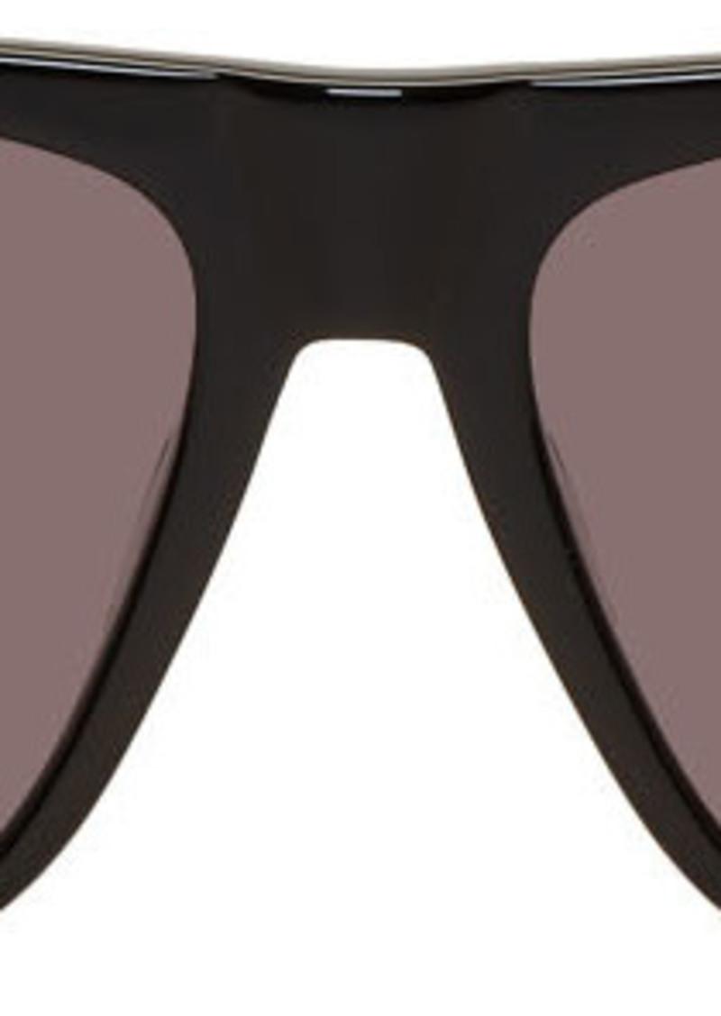 Alexander McQueen Black Flat Top Sunglasses