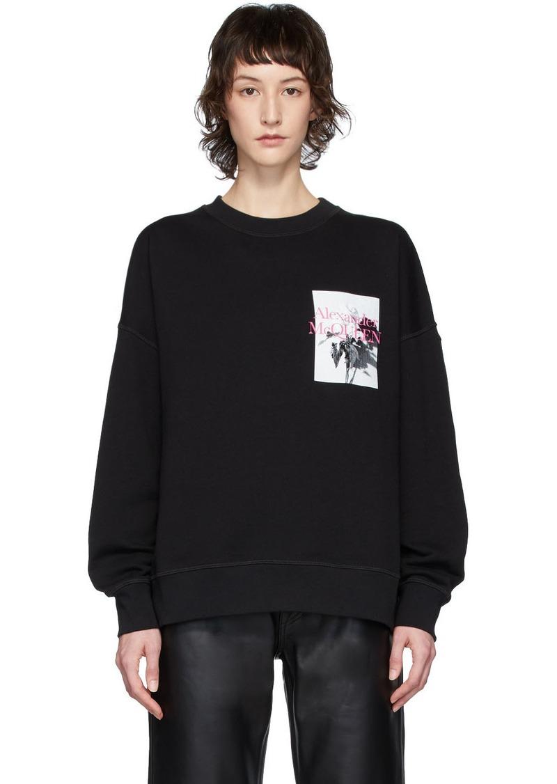 Alexander McQueen Black Floral Sweatshirt