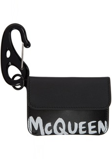 Alexander McQueen Black Graffiti Card Holder